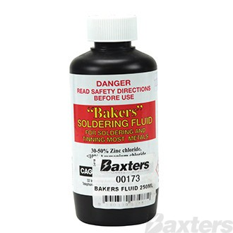 Bakers Fluid Solder Flux 250ml, General Purpose Flux suitable for Soldering Copper, Brass, Tin Plate and Steel Sheet