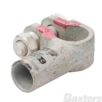 Crimp Battery Terminal (Cast Copper & Heavy Duty) 00 B&S Elbow Positive (ea)