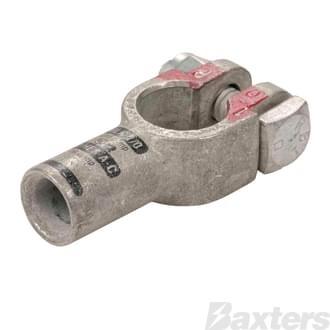 Crimp Battery Terminals (Cast Copper & Heavy Duty) 00 B&S Straight Positive