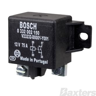 Relay Power Bosch 12V 75A Normally Open 4 Pin