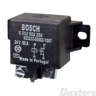 Relay Power Bosch 24V 50A Normally Open 4 Pin