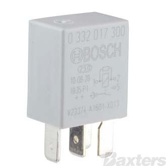 Relay Micro Bosch 12V 20A Normally Open 4 Pin Resistor Protected