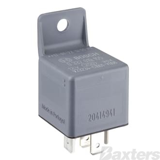 Relay Mini Bosch 12V 30A Normally Open 5 Pin Diode Protected