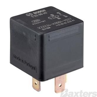 Relay Mini Bosch 12V 30A Normally Open 4 Pin Suits Commodore Terminal 30 and 86 Reversed