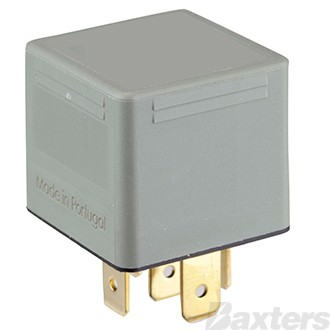 Relay Mini Bosch 24V 20/10A C/O 5 Pin Sea Water Protected Silver Plated Terminals