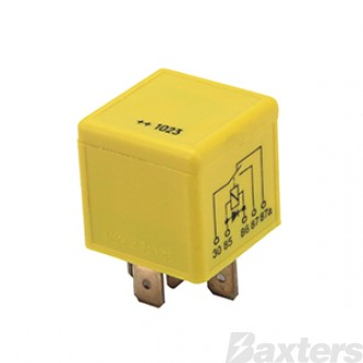 Relay Mini Bosch 24V 20/10A Change Over 5 Pin Diode Protected Seawater Protected Silver Terminals
