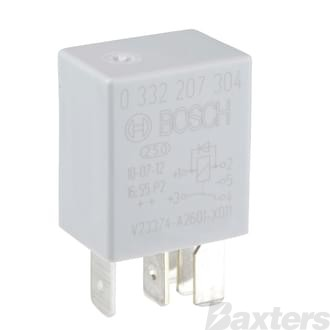 Relay Micro Bosch 12V 20/10A Change Over 5 Pin Diode Protected