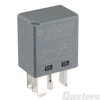 Relay Micro Bosch 24V 10/5A Change Over 5 Pin Diode Protected