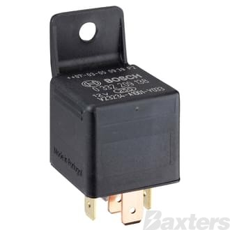 Relay Mini Bosch 12V 30/20A Change Over 5 Pin Resistor Protected