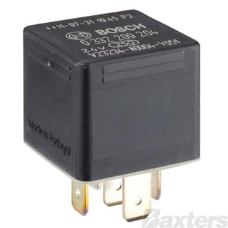 Relay Mini Bosch 24V 20/10A Change Over 5 Pin Diode Protected