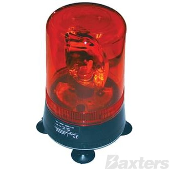 Genuine Monark Diesel Rotating Beacon Amber 12/24V Magnetic with Suction Cups, suitable for metal or fibreglass bodies