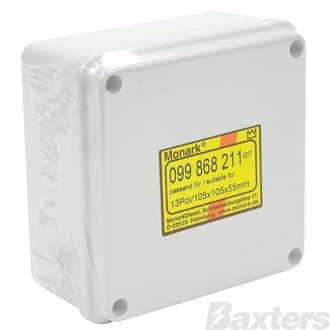 Monark Diesel Junction Box 107 x 107 x 57mm Universal IP56 Rated