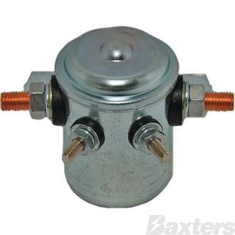 Solenoid Baxters 12V 80A Normally Open Continuous Duty Metal Side Mount