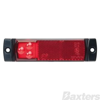 Clearance Light LED Red PM IP67 9-32V RECT 128 x 32 x 17mm