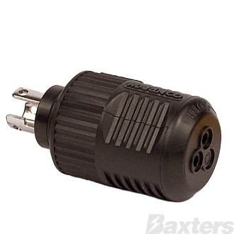 Plug 3 Pin Marine 50Amp DC Takes 6mm Cable