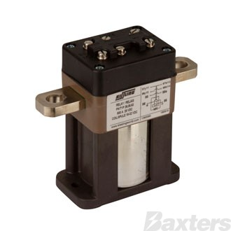 Solenoid Kissling 24V 500A Bottom Mount Auxillary Contacts