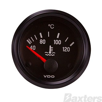 Gauge Water Temperature VDO 12V 52mm 40-120 Degrees Celsius