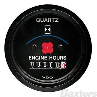 Gauge Hourmeter VDO 12V 52mm Electronic