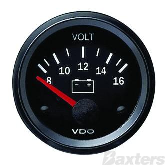 Gauge Volt VDO 12V 52mm 8-16V Range