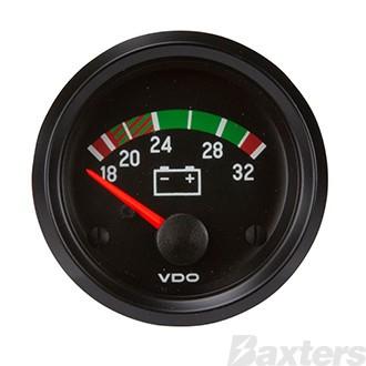 Gauge Voltmeter VDO 18-32V 52mm Steel Housing