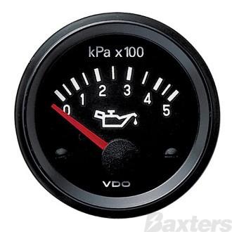 Pressure Gauge 52mm VDO Electronic 12V 0-500Kpa