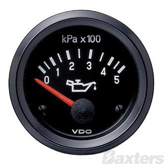 Gauge Oil Pressure VDO 12V 0-500kPa 52mm Steel Body