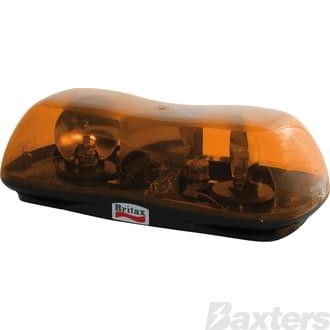 Light Twin Rotator 12V Amber Mini Bar