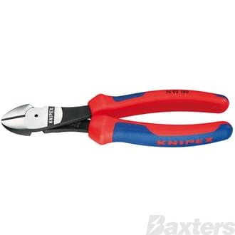 KNIPEX HIGH LEVERAGE DIAGONAL SIDE CUTTER 180MM