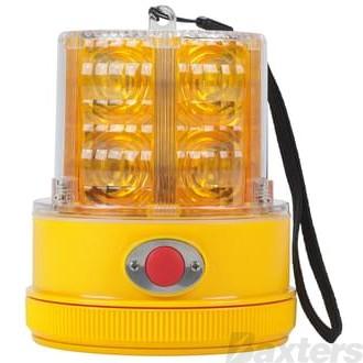 Beacon LED Strobe Amber Magnetic Light Sensing Battery Operated