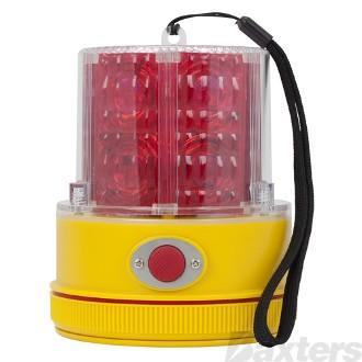 Beacon LED Strobe Red Magnetic Light Sensing Battery Operated