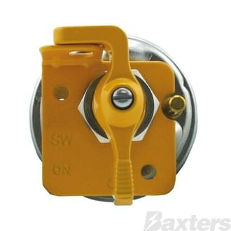 Switch Battery Master Cole Hersee 6-36V 125A Continuous Normally Open Yellow Lock Out Field Contacts Pin locator