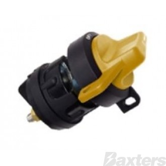 Battery Master Switch C/Hersee Yellow 6 - 36V 300A IP67