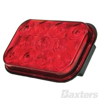 Light Rectangle Red LED 10-30V Stop Tail