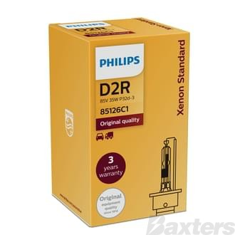 Philips HID Globe D2R 85V 35W 4200K P32D-3 Standard Boxed Single