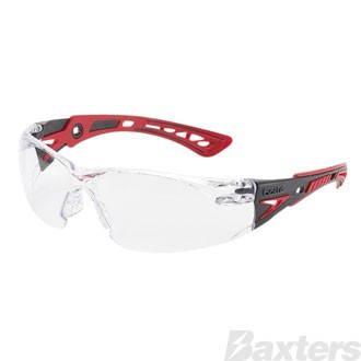 Bolle Rush+ Safety Glasses Clear Platinum