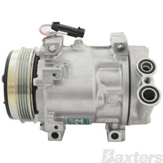 Compressor Sanden 1178 Suits Iveco Daily SDS7V16 12V 4PV 112mm Vert Pad 45° Direct Mount VUD Head