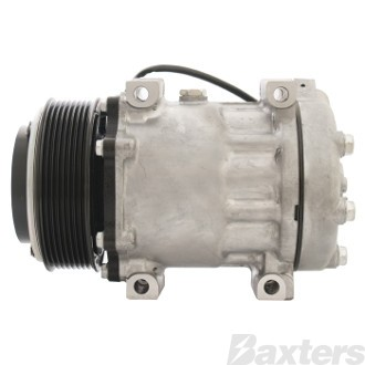 Compressor Sanden 4073 Suits Western Star SD7H15 12V 8PV 119mm Vert Special Pad 51° Direct Mount WH Head Long Haul