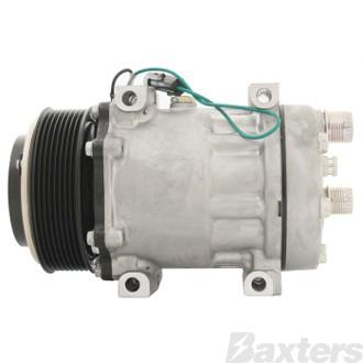Compressor Sanden 4086 Suits Kenworth K108 Long Haul SD7H15 12V 8PV 119mm HOR Direct Mount KH Head