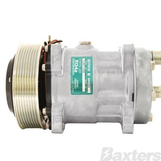 Compressor Sanden 4153 Suits Universal SD7H15 12V 8PV 119mm HOR Ear Mount KG Head (Alternative To 8027A)