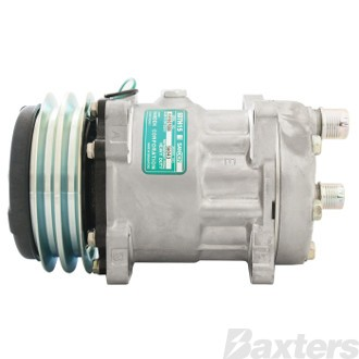 Compressor Sanden 4269 Suits Universal SD7H15 24V 2GA 132mm HOR Ear Mount KG Head (Alternative To 6043S)