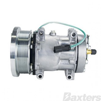 Compressor Sanden 4301 Suits Caterpillar SD7H15 24V 8PV 133mm Hor GM Pad Direct Mount  GK Head Grader 16H 120H 140H 143H 163H Dump Truck 725-740 Wheel Loader 966G
