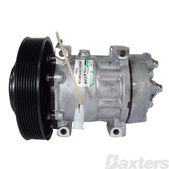 Compressor Sanden 4324 Suits Volvo Truck SD7H15 24V 8PV 176mm Hor Special Pad Direct Mount FM12 FH12 (Can use A10-4116)