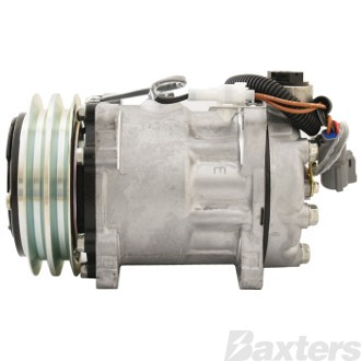 Compressor Sanden 4469 Suits Ford Sterling Detroit Diesel SD7H15 12V 2GA 132mm V/Pad Ear Mount WJ Head
