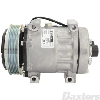 Compressor Sanden 4492 Suits Freightliner SD7H15HD 12V 6PV 125mm H/Tube Direct Monut MDA Head 22-48437-000