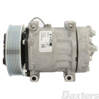 Compressor Sanden 4892 4493 Suits Volvo Truck 7.0 12.0 SD7H15 12V 8PV 130mm Hor Special Pad Direct Mount WV Head