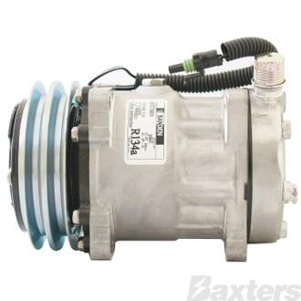 Compressor Sanden 4647 Suits JCB Tractor SD7H15 12V 2GA 132mm VOR Ear Mount JDA Head