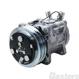 Compressor Sanden 4664 Suits Kenworth Mack Peterbuilt SD7H15HD 12V 2A 132mm VOR Ear Mount JD Head