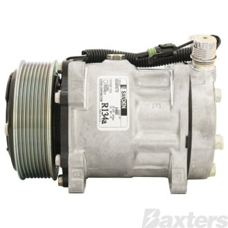 Compressor Sanden 4711 Suits Kenworth MX SD7H15 12V 8PV 119mm VOR Ear Mount JDA Head