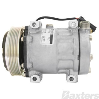 Compressor Sanden 4756 Suits Freightliner SS55 SD7H15 12V 6PV 125mm VTO Direct Mount CB Head