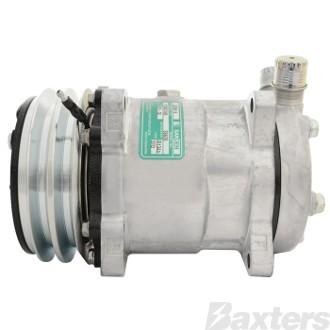 Compressor Aftermarket 6626 Sanden Type Suits Universal SD5H14 12V 2GA 132mm VOR Ear Mount FL Head